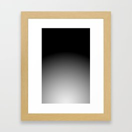 COAL / Plain Soft Mood Color Blends / iPhone Case Framed Art Print