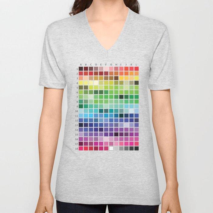 Color Chart Unisex V-Neck