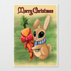 Bunny Xmas Card Canvas Print