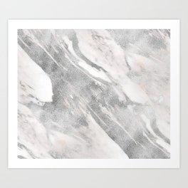Castello silver marble Art Print