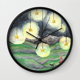 Stars Hung in the Sky Wall Clock