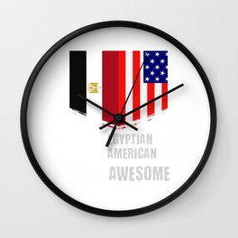 50% Egyptian 50% American 100% Awesome Wall Clock