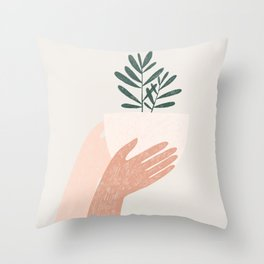 give plants, spread love Throw Pillow