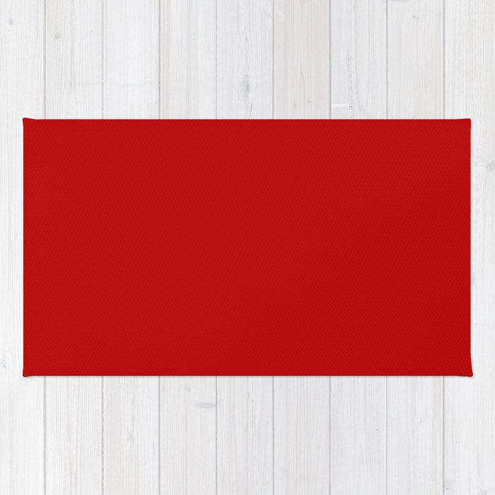UE red - solid color Rug
