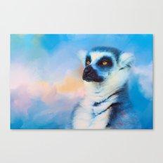 Colorful Expressions Lemur Canvas Print