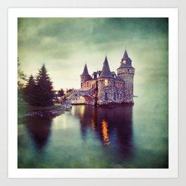 Castle Twilight Art Print