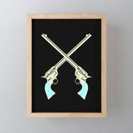 Crossed Guns Pair Framed Mini Art Print