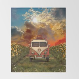 summer landscape Throw Blanket