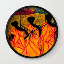 The Walking Monks-the Path To Devotion Wall Clock