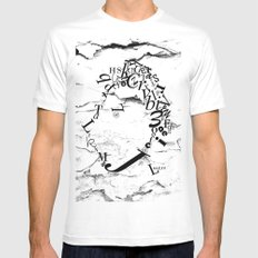 Typeface distressed Mens Fitted Tee White MEDIUM