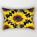 Black & Yellow Sunflowers Burgundy Purple Art by sharlesart