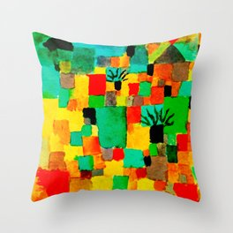 Southern Tunisian Gardens by Paul Klee Throw Pillow