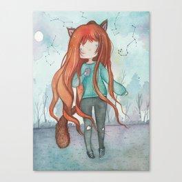 Wolf girl Canvas Print