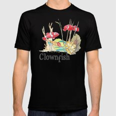 C is for Clownfish MEDIUM Black Mens Fitted Tee