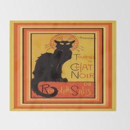 Tournee Du Chat Noir - After Steinlein Throw Blanket