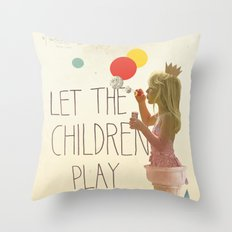 Let the children play Throw Pillow
