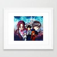 evangelion Framed Art Prints featuring Evangelion by Psyconorikan