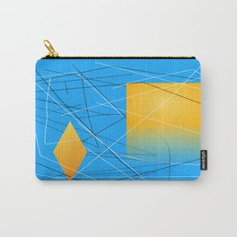 Blue Yellow Abstract Diamond Carry-All Pouch