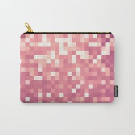 Rose Pink Mauve Pixels Carry-All Pouch