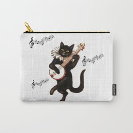 Cute Vintage Dancing Cat Carry-All Pouch