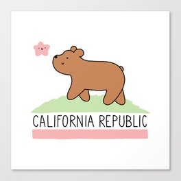 Kawaii California Republic Canvas Print
