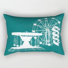 Seaside Fair in Turquoise Rectangular Pillow
