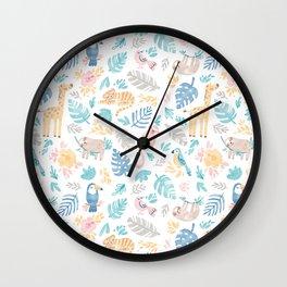 Sleepy Jungle Wall Clock