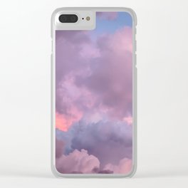 Pink and Lavender Clouds Clear iPhone Case