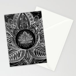 Lotus Flower Black & White Stationery Cards
