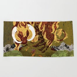 The Last Unicorn Beach Towel