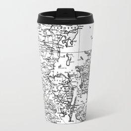 Vintage Map of Denmark (1905) BW Travel Mug