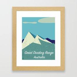Australia Great Dividing Range Framed Art Print