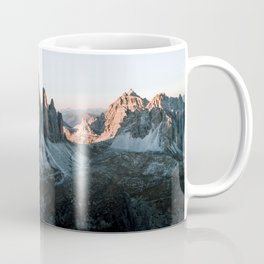 Dolomites sunset panorama - Landscape Photography Coffee Mug
