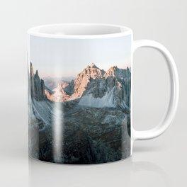 Dolomites sunset panorama - Landscape Photography Coffee Mug