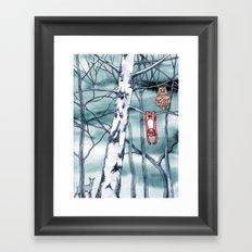 Bored monkey Framed Art Print