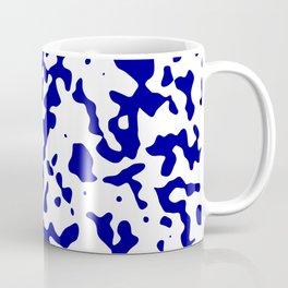 Spots - White and Dark Blue Coffee Mug