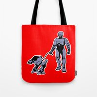 robocop Tote Bags featuring Robocop by dutyfreak