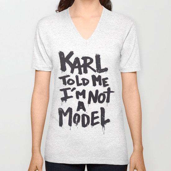 Karl told me... Unisex V-Neck