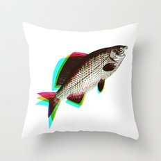 fish + fish + fish Throw Pillow