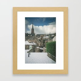 Old Town Snow Framed Art Print