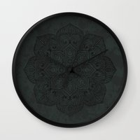 islam Wall Clocks featuring Vintage Mandala by Mantra Mandala