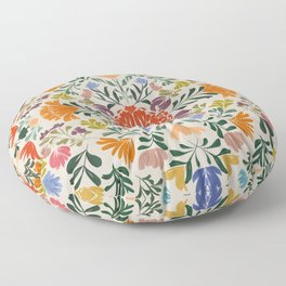 Florals from Mexico Floor Pillow
