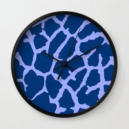 Blue Giraffe Print Wall Clock