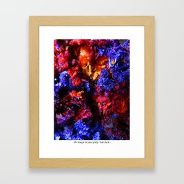 the magic of juice pulp Framed Art Print