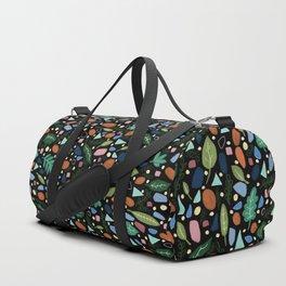 Dark Terrazzo Botanical Duffle Bag