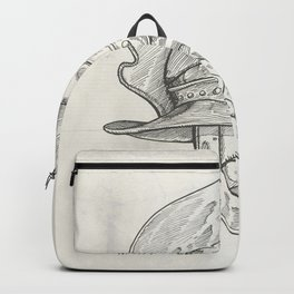 Roman helmet. Zentangle stylized. Vector illustration. Pattern. Backpack
