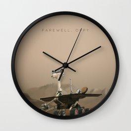 Farewell, Oppy. Wall Clock