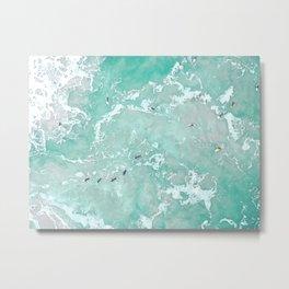 ocean aerial Metal Print