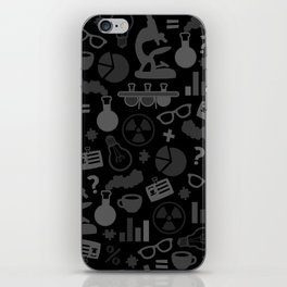 Grey and Black Science Pattern iPhone Skin