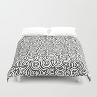 stark Duvet Covers featuring Stark Circles by SonyaDeHart